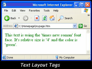 Text Layout Tags