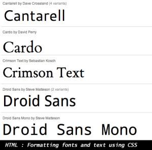 CSS Formatting