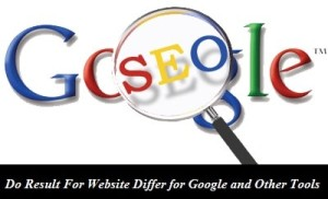 Do Result For Website Differ for Google and Other Tools? : Yes